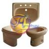 Serie Catalano lavabo bidet vaso Tissi Rosa