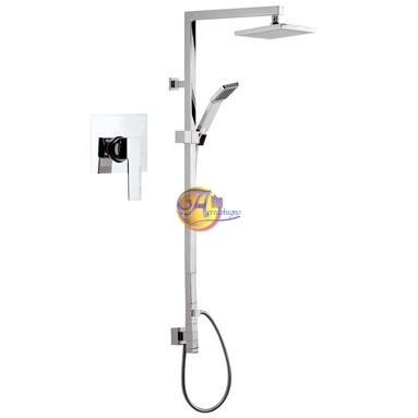 Set doccia incasso con colonna Qubika