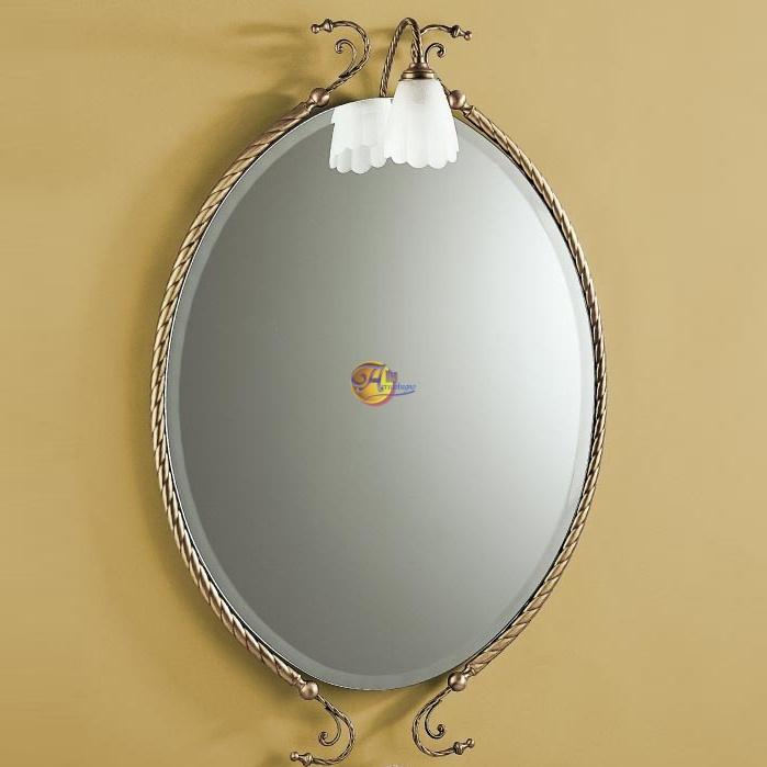 Specchio con applique bronzo edera alfeo arredobagno - Applique per specchio bagno classico ...